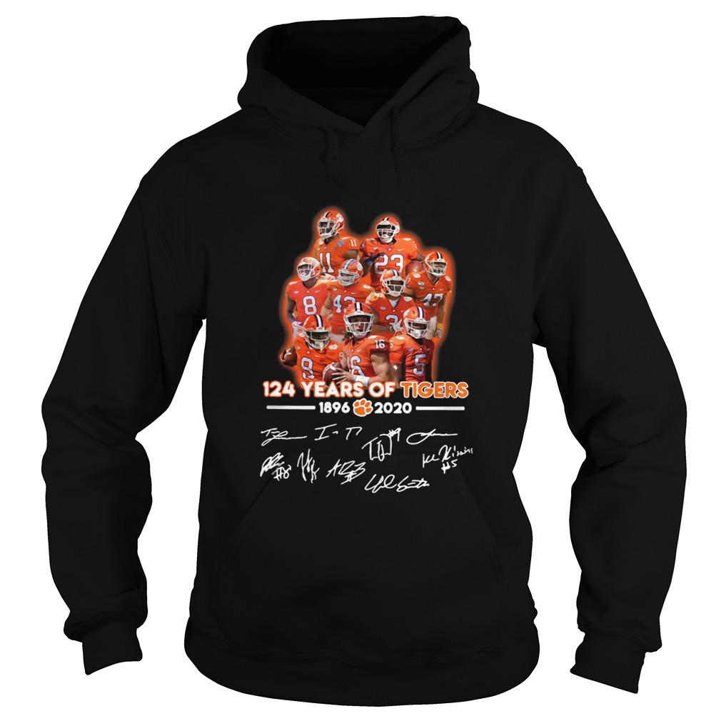 124 Years Of Clemson Tigers 1896 2020 Players Signatures  Hoodie