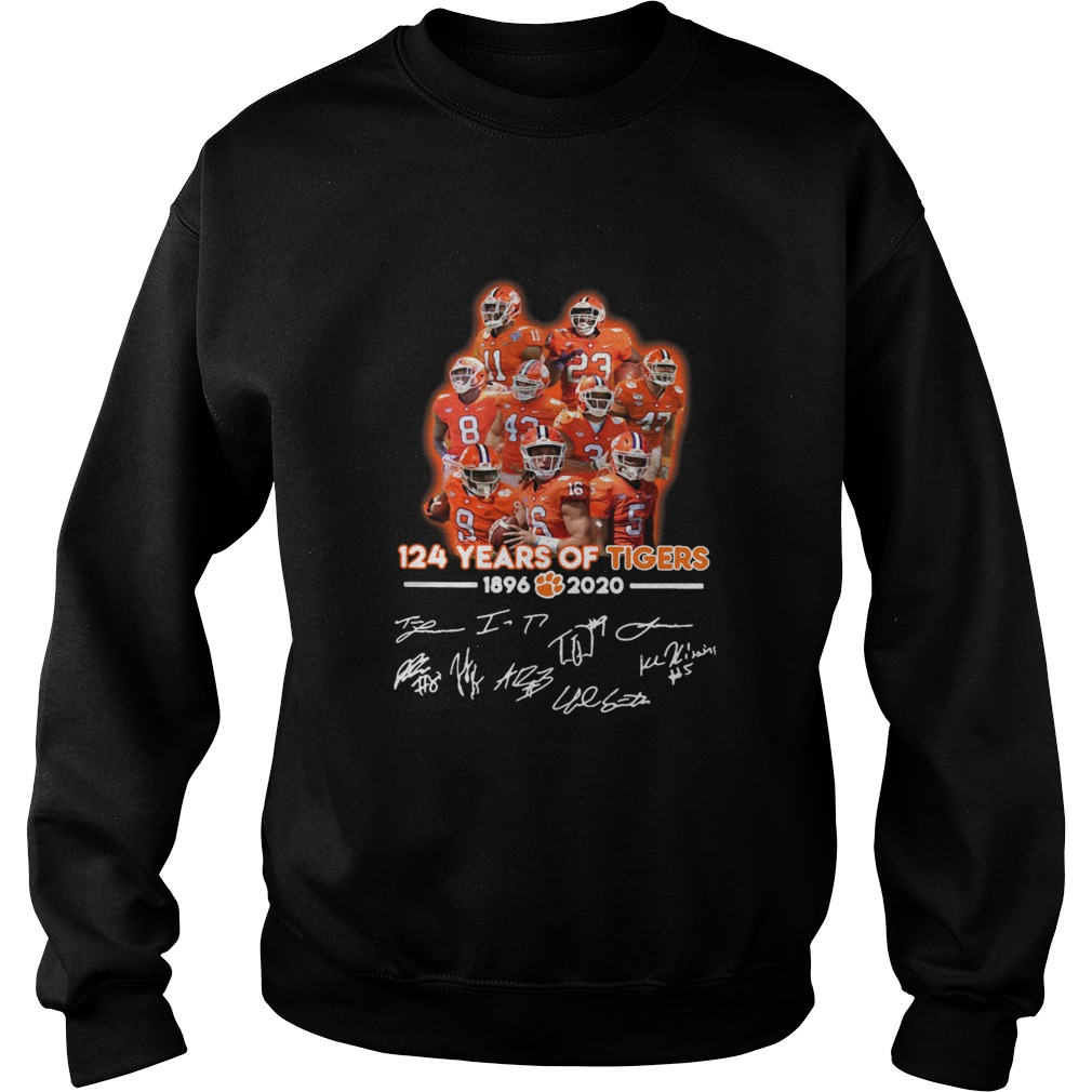 124 Years Of Clemson Tigers 1896 2020 Players Signatures  Sweatshirt