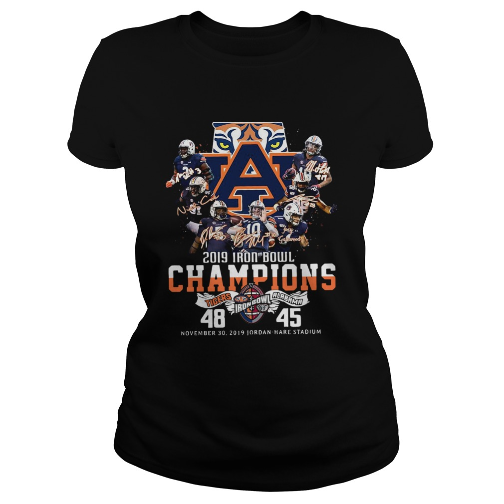 2019 Iron Bowl Champions 2019 Auburn Tigers Alabama  Classic Ladies