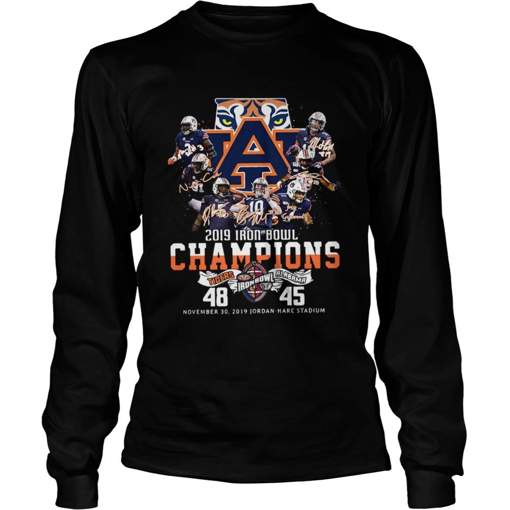 2019 Iron Bowl Champions 2019 Auburn Tigers Alabama  LongSleeve