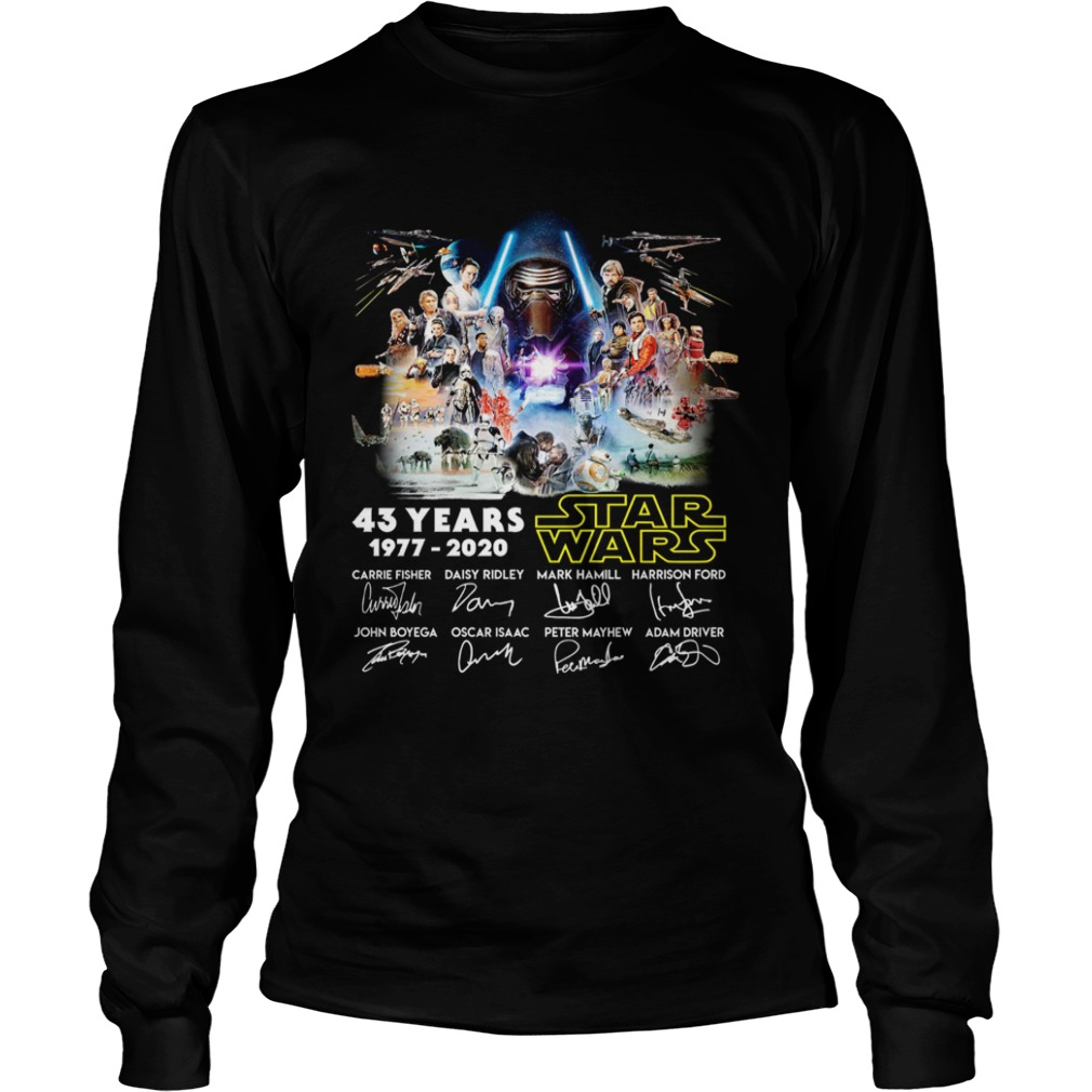 43 Years Star Wars 19772020 Characters Signature  LongSleeve