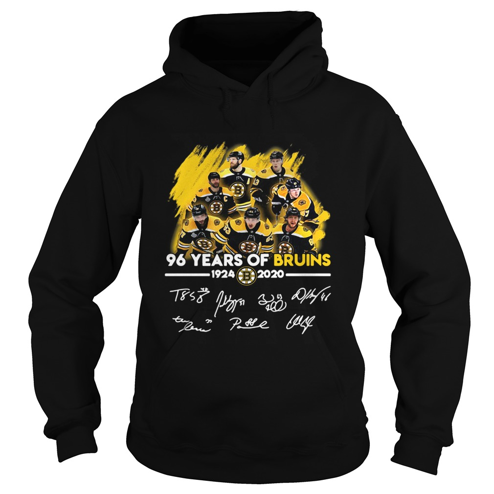 96 Years Of Boston Bruins 1924 2020 Players Signatures  Hoodie