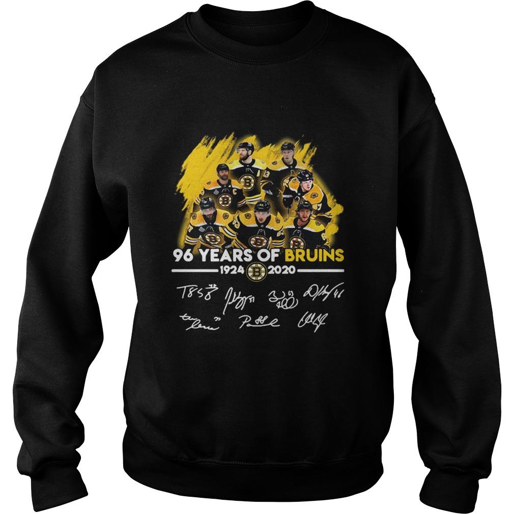 96 Years Of Boston Bruins 1924 2020 Players Signatures  Sweatshirt