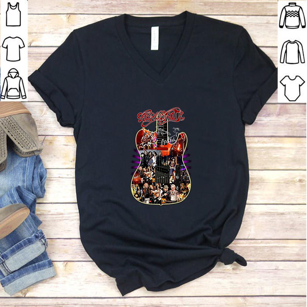Aerosmith guitar all signature shirt