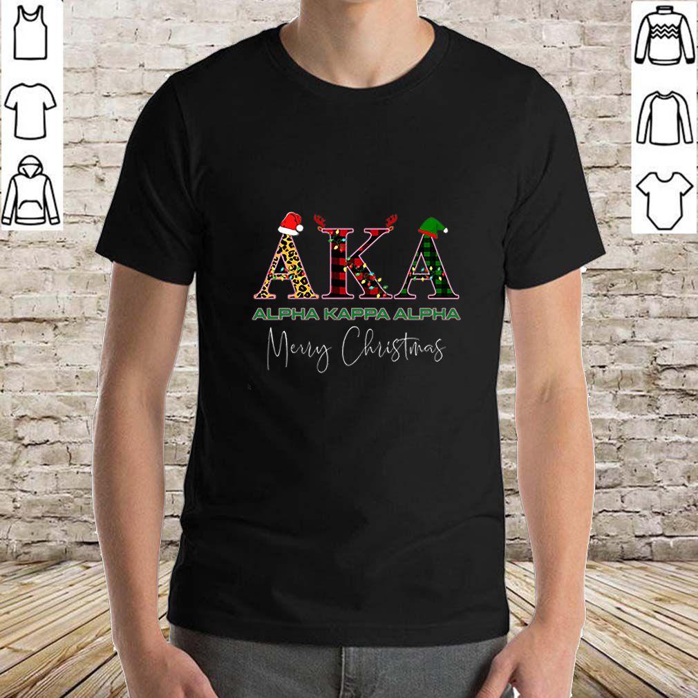 AKA Alpha Kappa Alpha Merry Christmas shirt