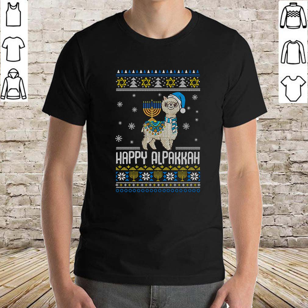 Alpaca Happy Hanukkah ugly Christmas shirt