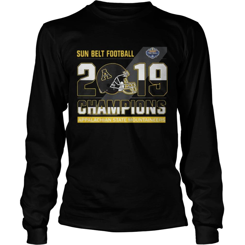 Appalachian State Mountaineers sun belt football champions  LongSleeve