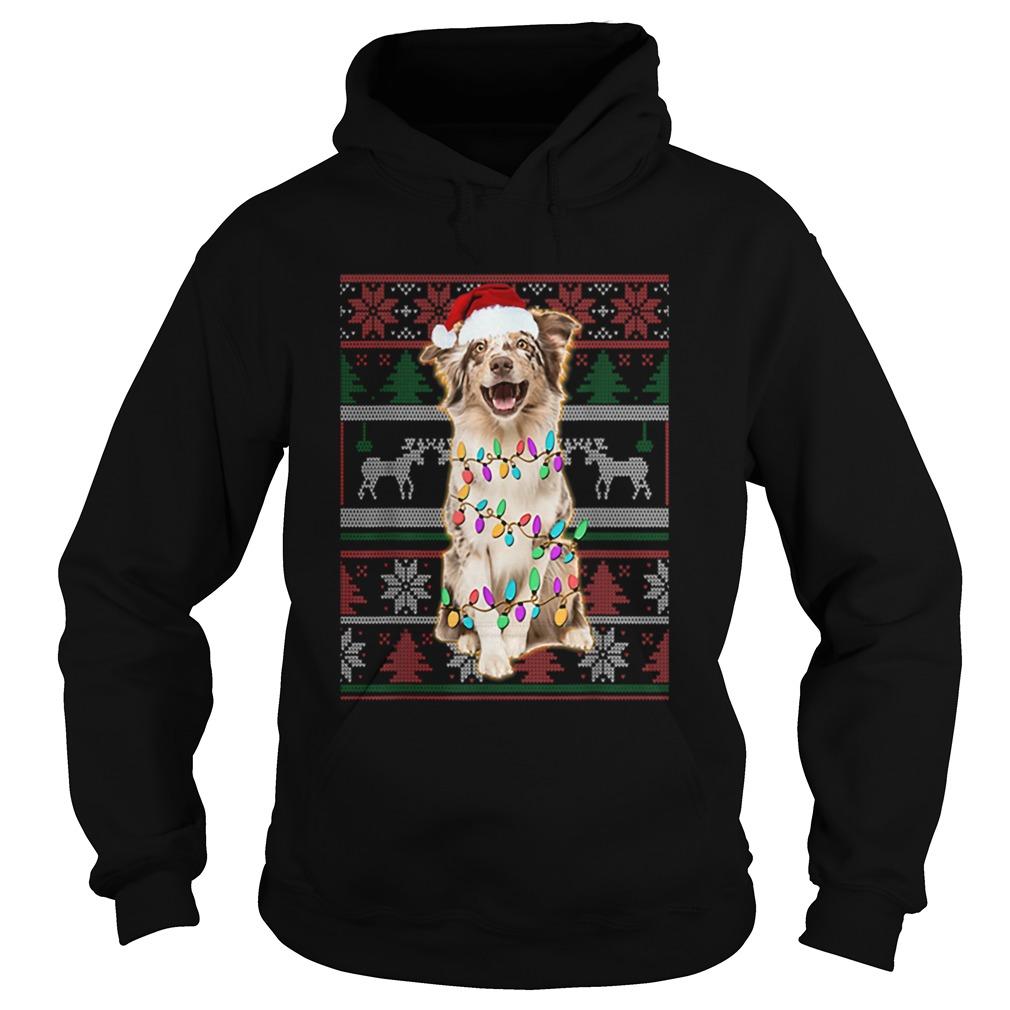Australian Shepherd Ugly Sweater Christmas  Hoodie
