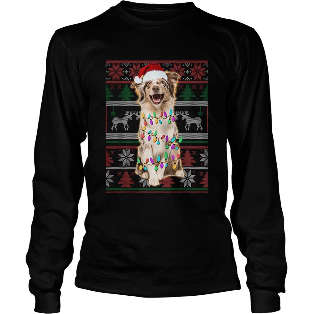 Australian Shepherd Ugly Sweater Christmas  LongSleeve