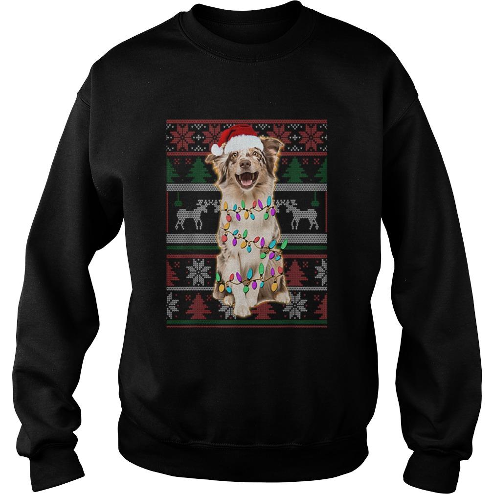 Australian Shepherd Ugly Sweater Christmas  Sweatshirt
