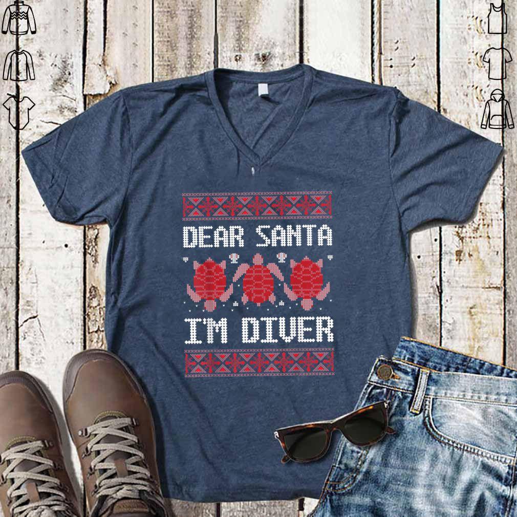 Awesome Dear Santa I'M Scuba Diver Ugly Sea Turtle Christmas Sweater shirt