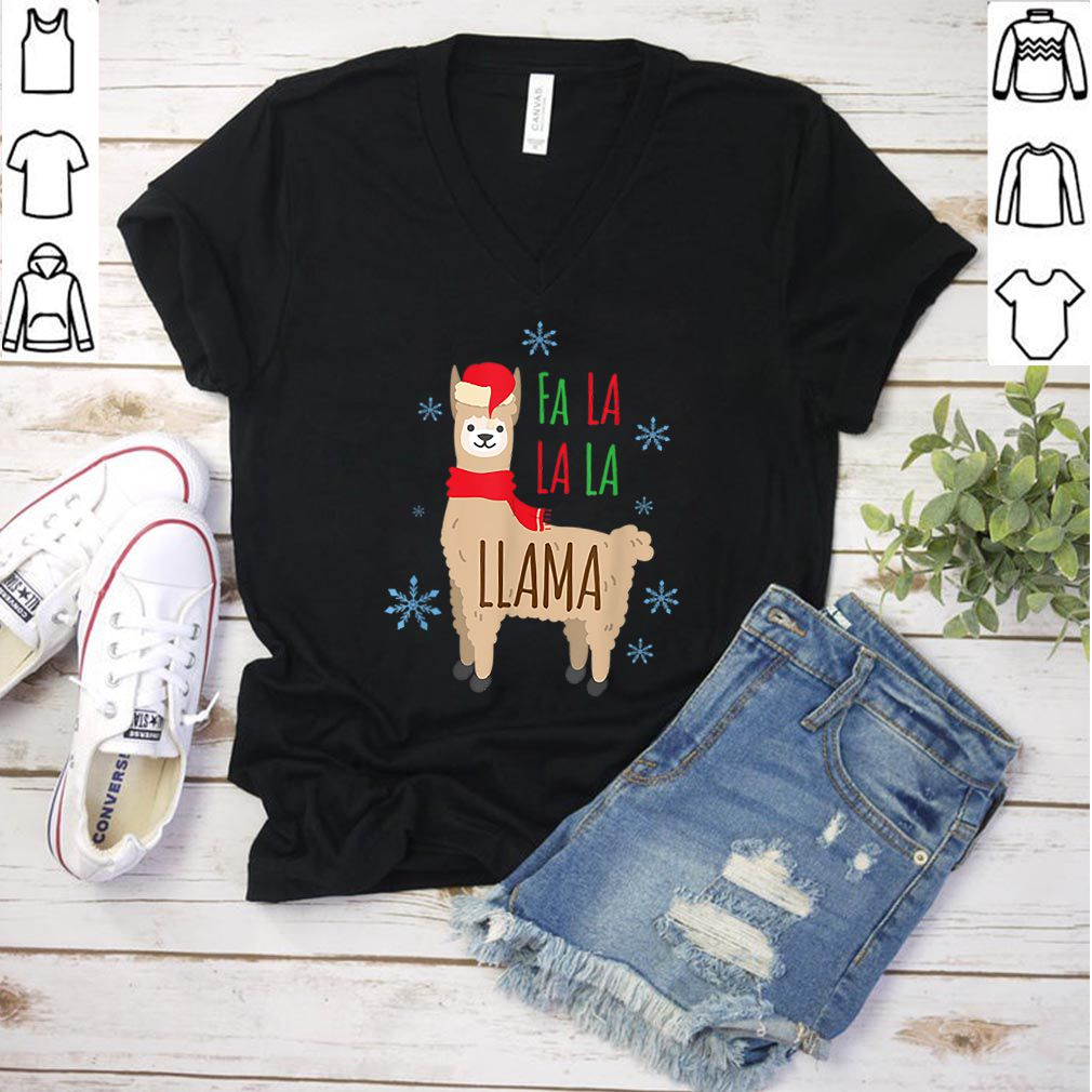 Awesome Fa la la Llama Christmas Winter Snow Lamb Funny Gift shirt
