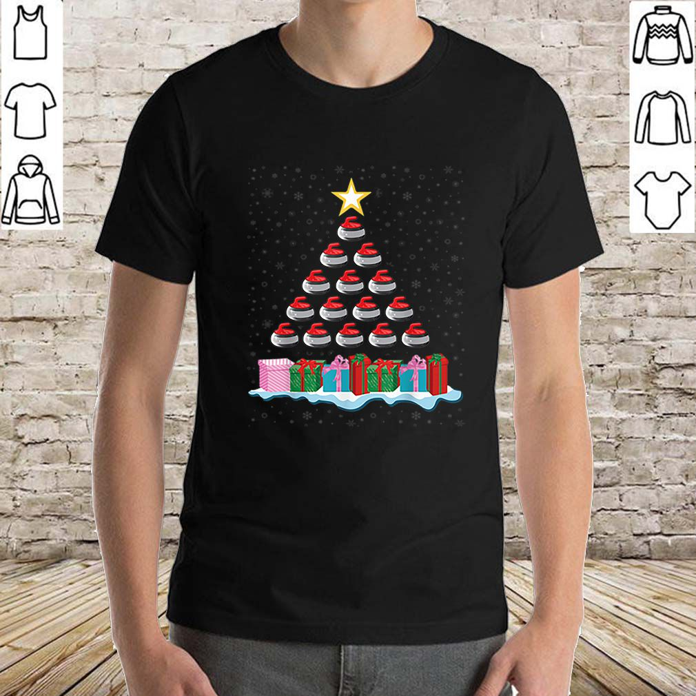 Awesome Funny Curling Stone Christmas Tree Gift for Curling Lovers sweater