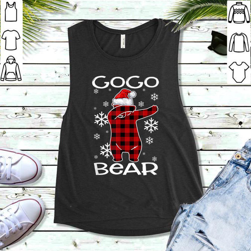 Awesome Gogo Bear Pajama Dabbing Hat Santa Christmas Family Ugly shirt
