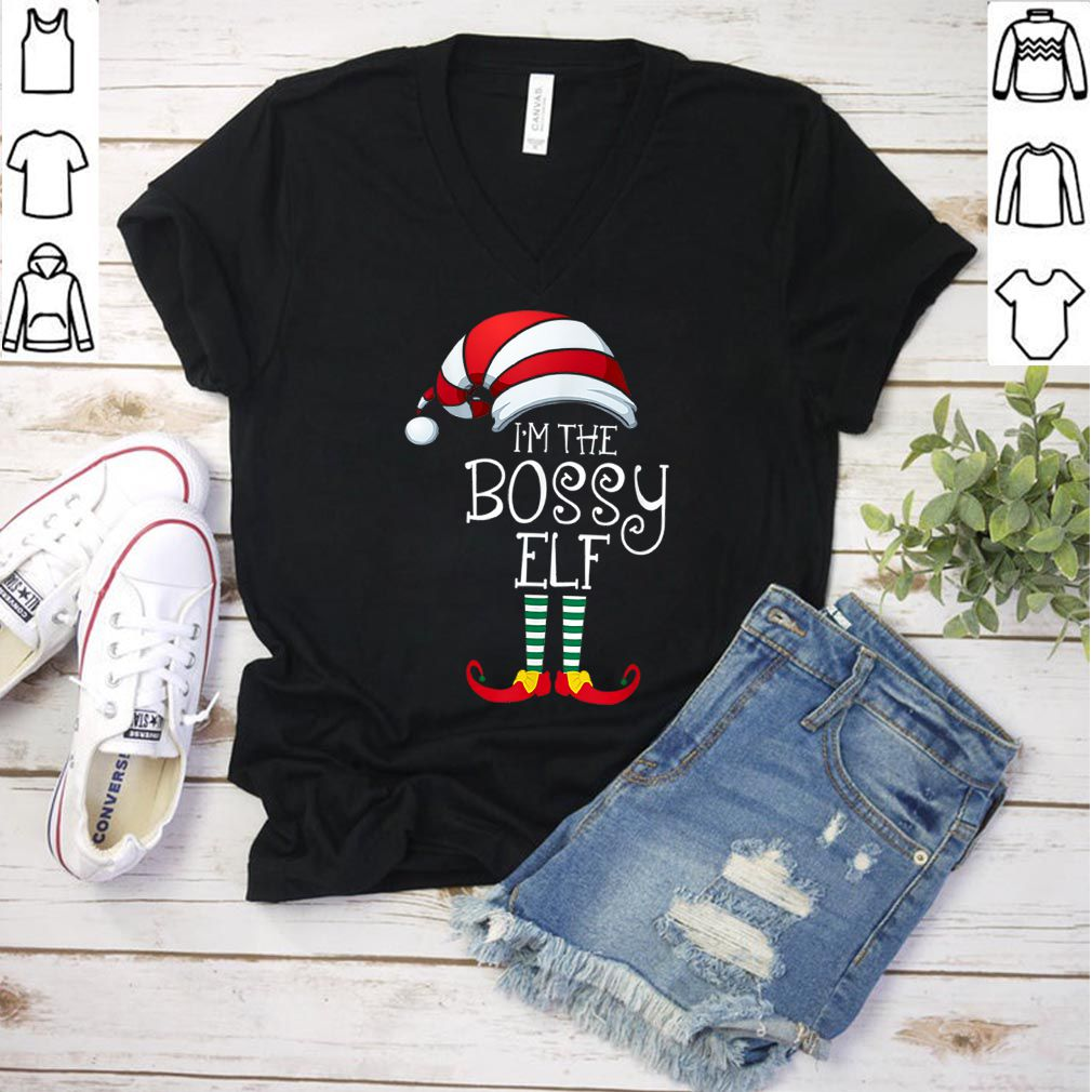 Awesome I'm The Bossy Elf Family Matching Christmas Gift Group shirt
