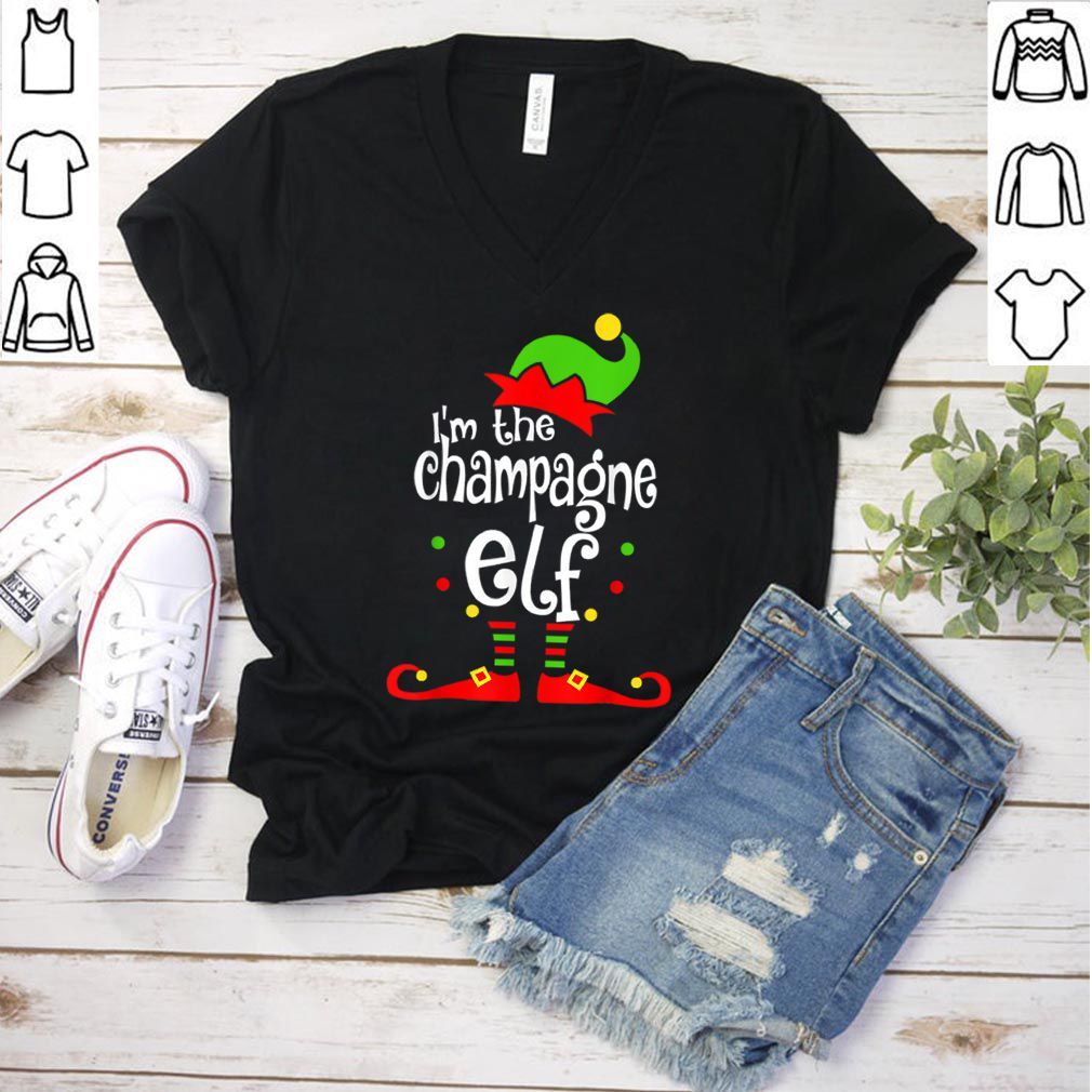Awesome I'm The Champagne ELF Christmas Xmas Funny Matching Squad shirt