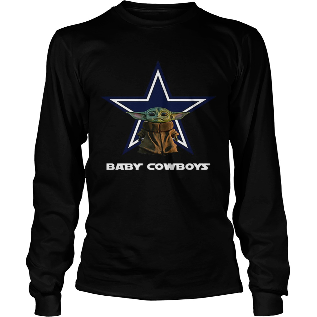 Baby Yoda Baby Cowboys Dallas Cowboys  LongSleeve