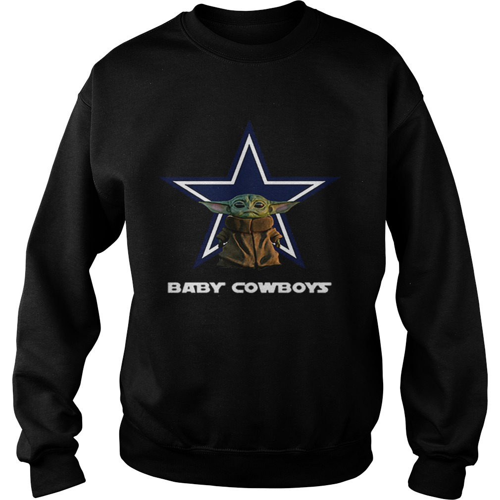 Baby Yoda Baby Cowboys Dallas Cowboys  Sweatshirt