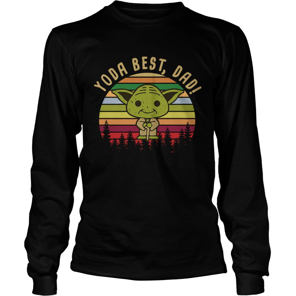 Baby Yoda best dad vintage sunset  LongSleeve