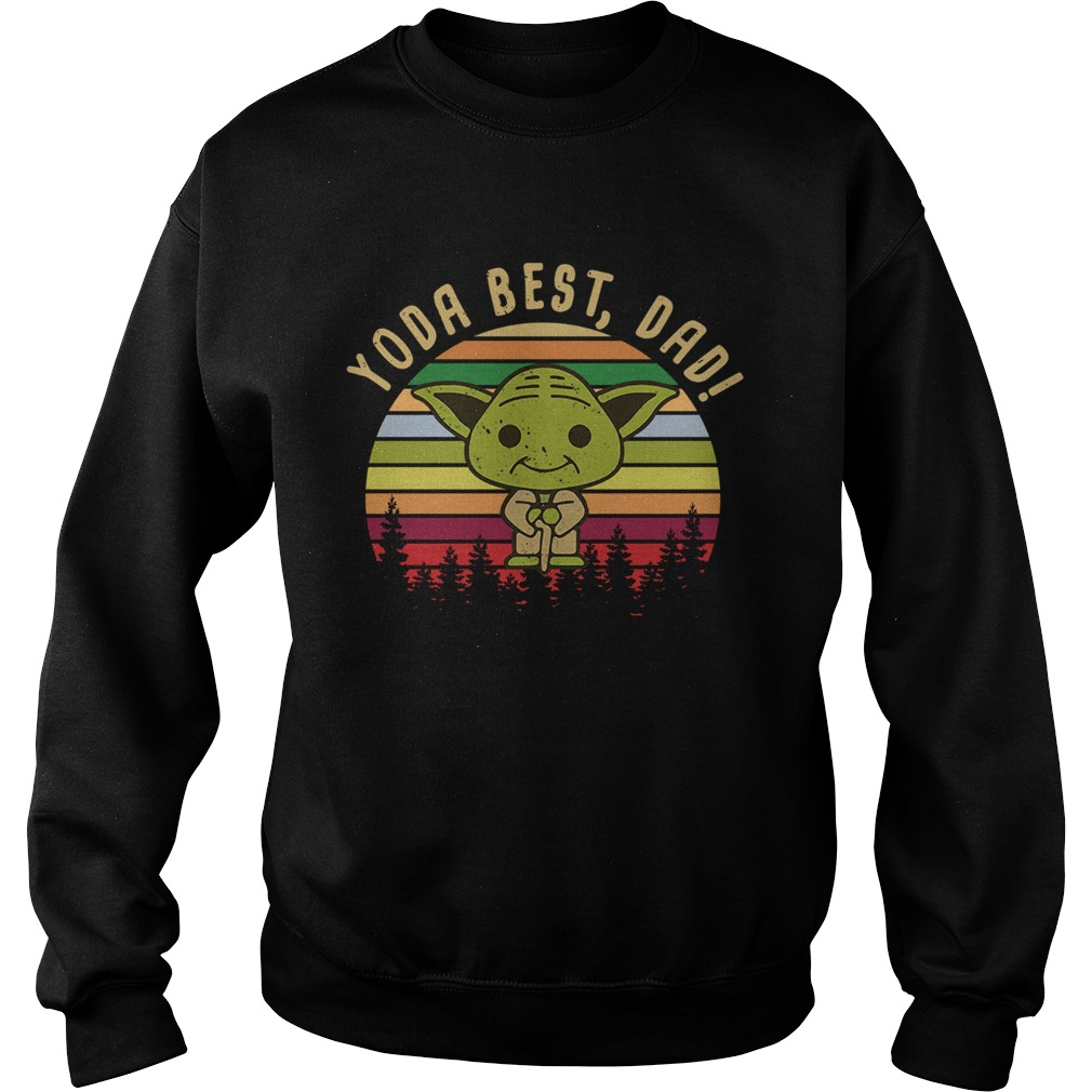 Baby Yoda best dad vintage sunset  Sweatshirt