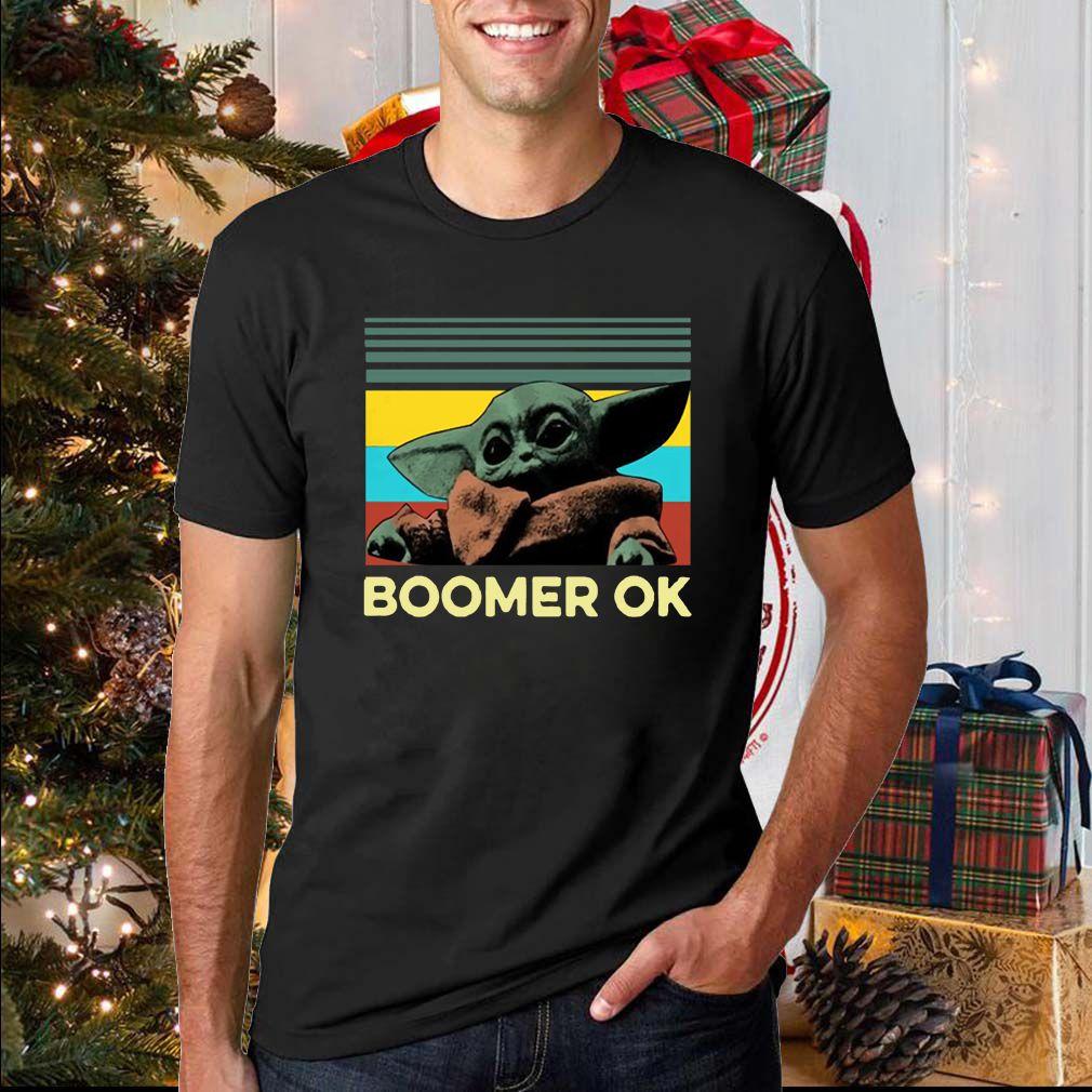 Baby Yoda Boomer Ok Tee Shirts