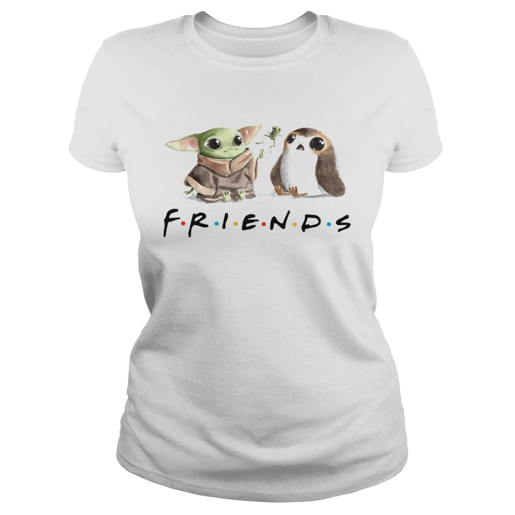 Baby Yoda Frog and Penguin Friends  Classic Ladies