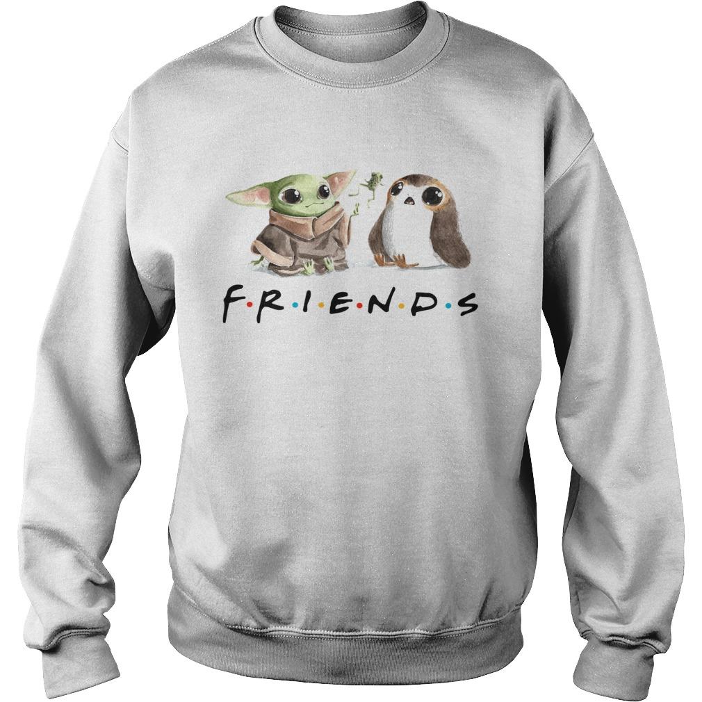 Baby Yoda Frog and Penguin Friends  Sweatshirt