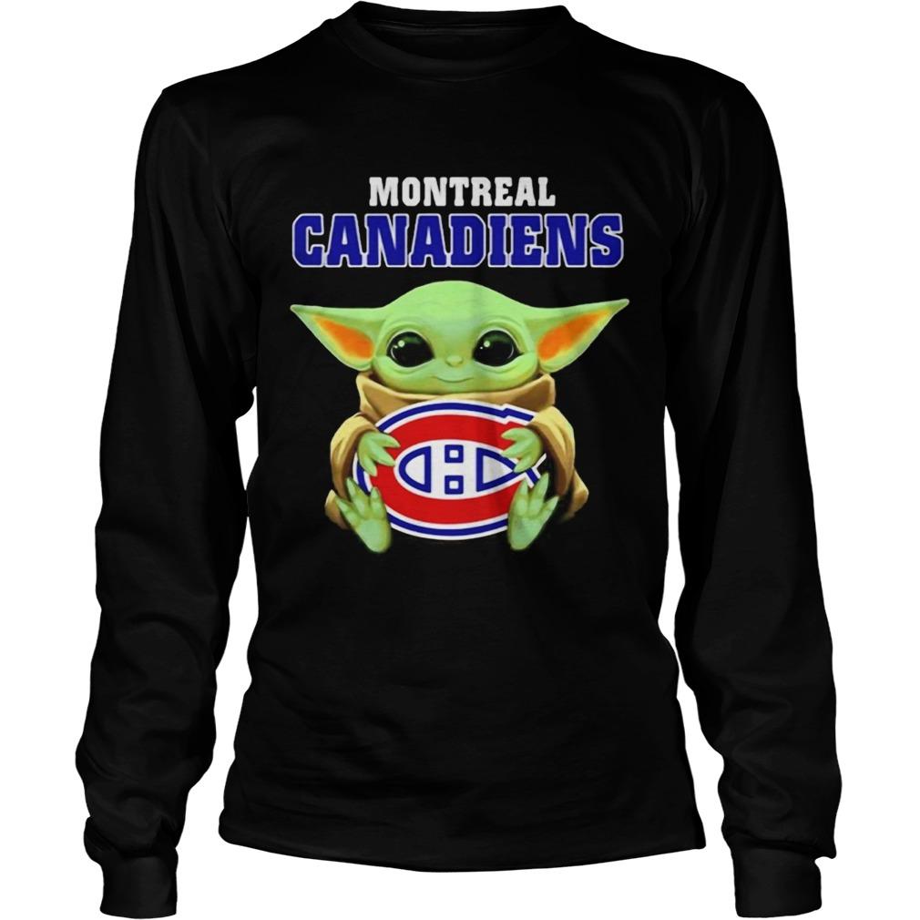 Baby Yoda hug ball Montreal Canadiens  LongSleeve
