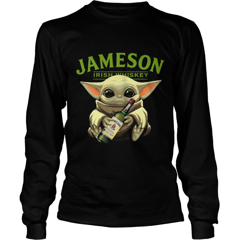 Baby Yoda Hug Jameson Irish Whiskey  LongSleeve