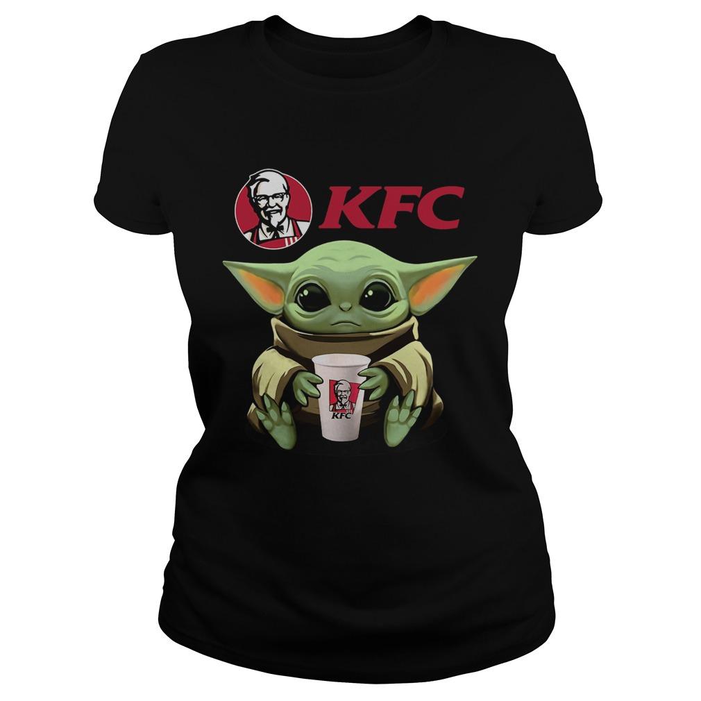 Baby Yoda Hug KFC  Classic Ladies