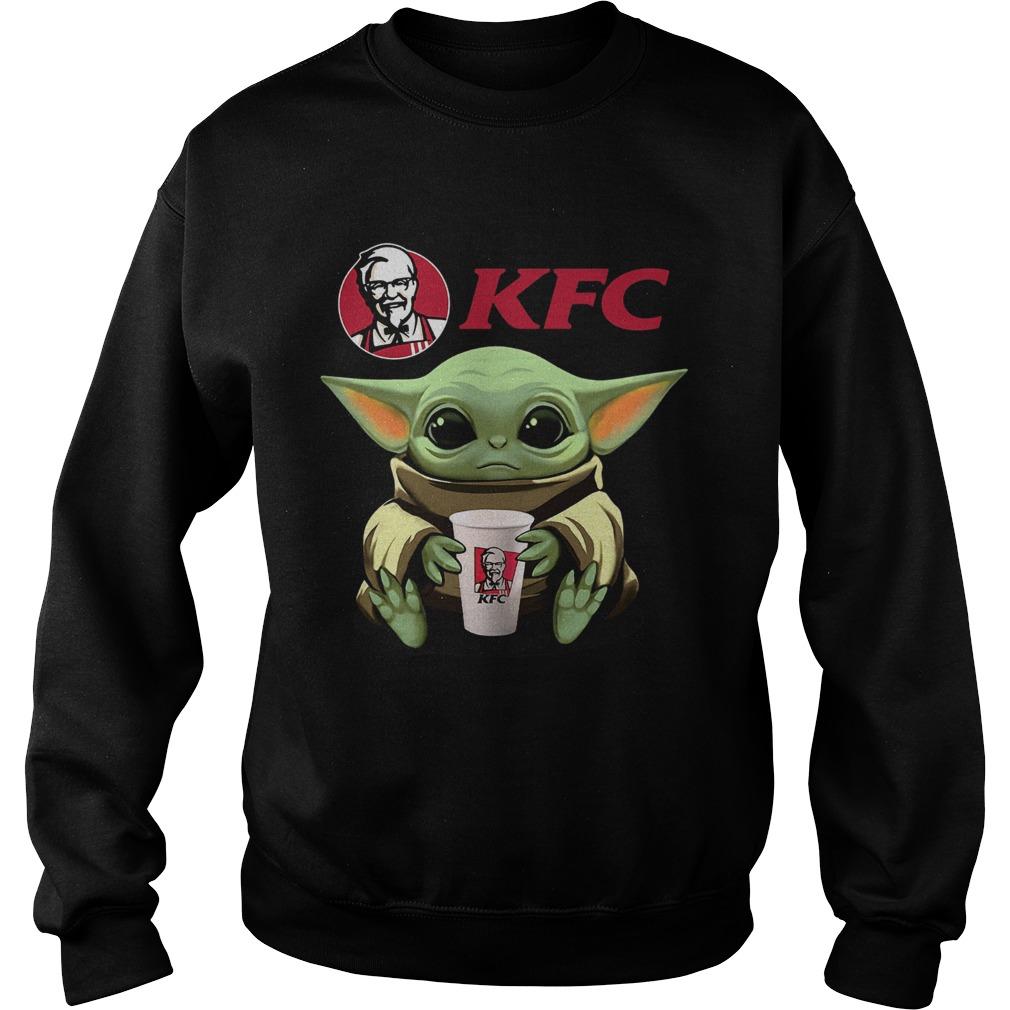 Baby Yoda Hug KFC  Sweatshirt