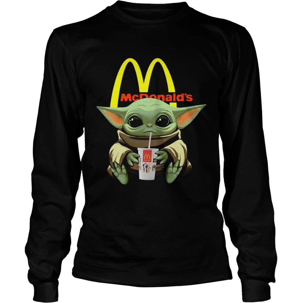 Baby Yoda Hug Mcdonalds  LongSleeve