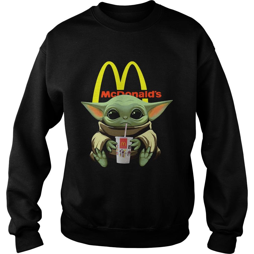 Baby Yoda Hug Mcdonalds  Sweatshirt