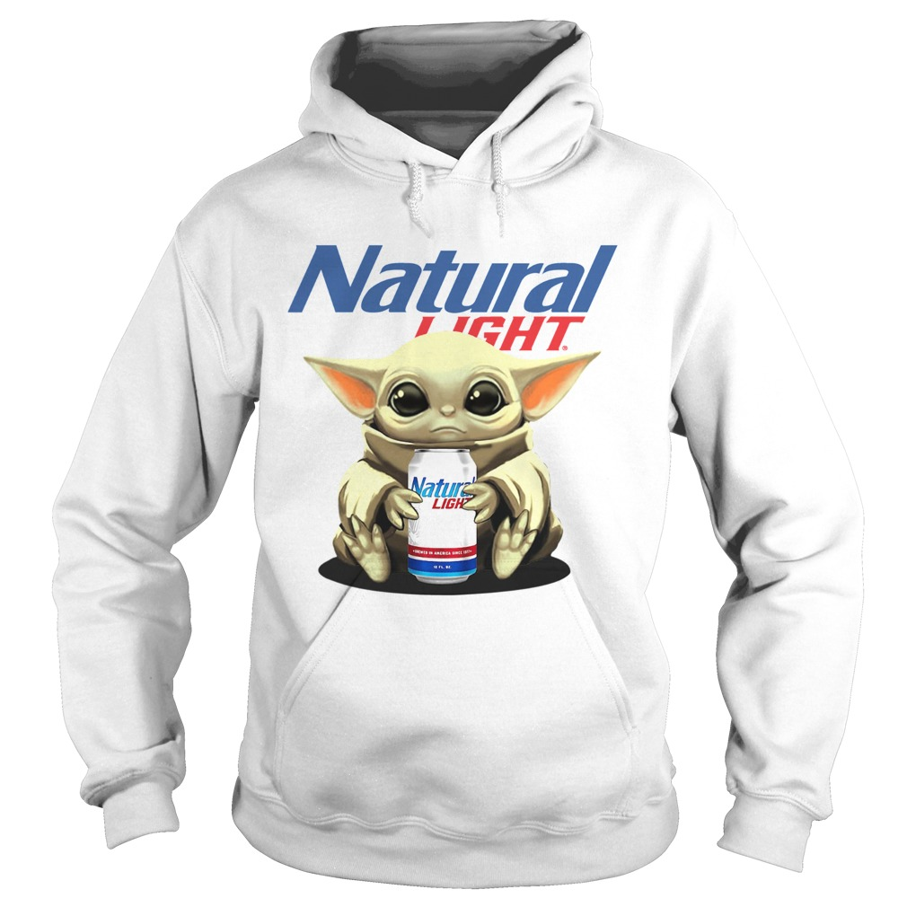 Baby Yoda Hug Natural Light  Hoodie