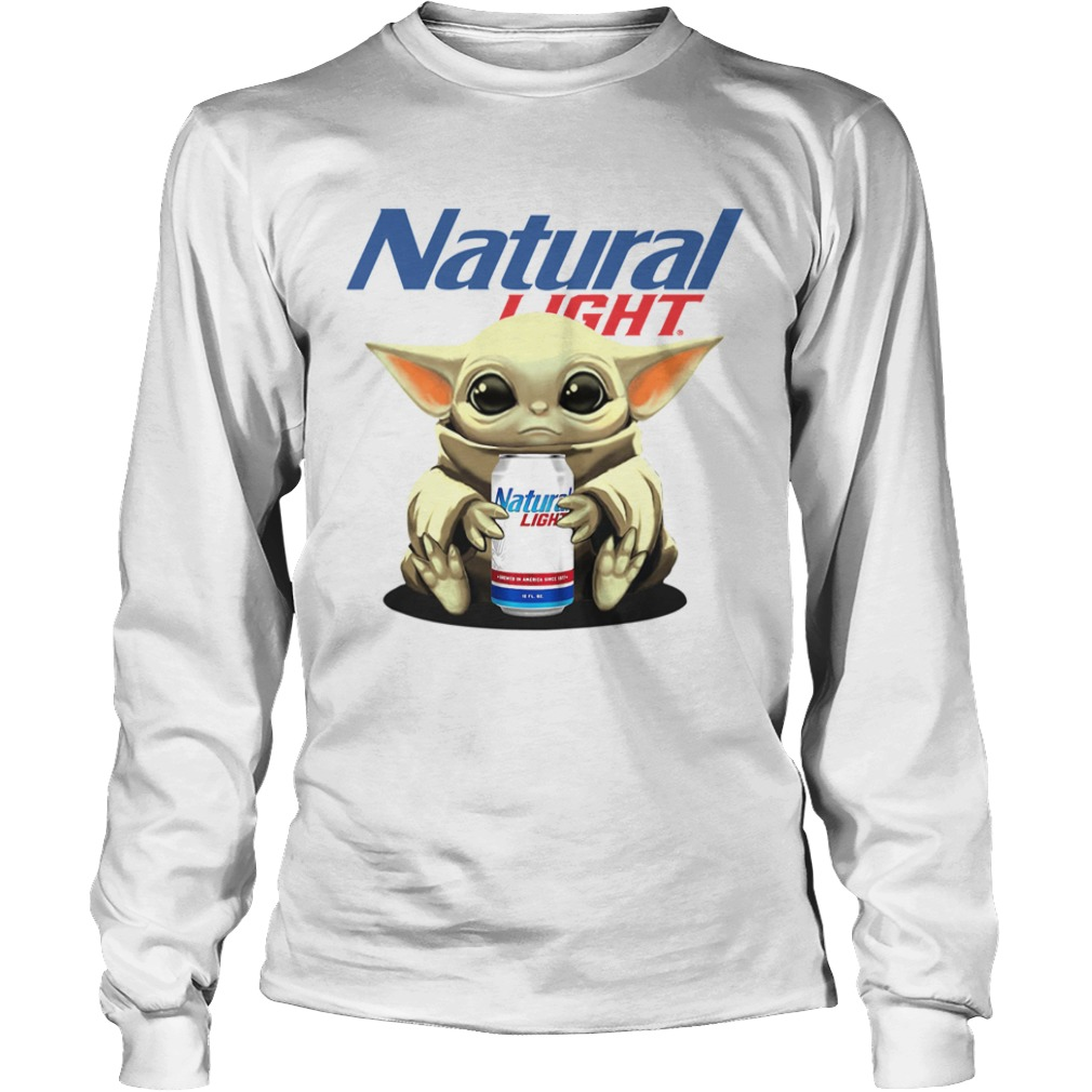Baby Yoda Hug Natural Light  LongSleeve