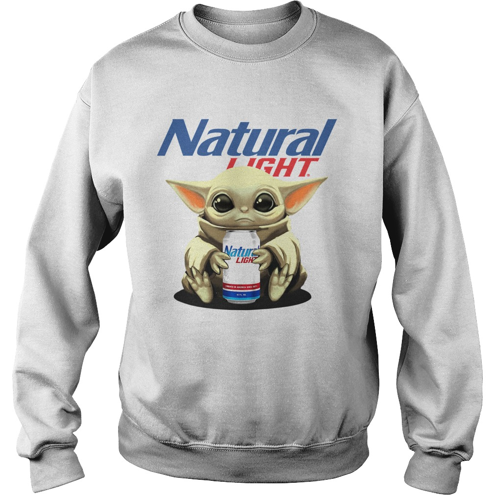Baby Yoda Hug Natural Light  Sweatshirt