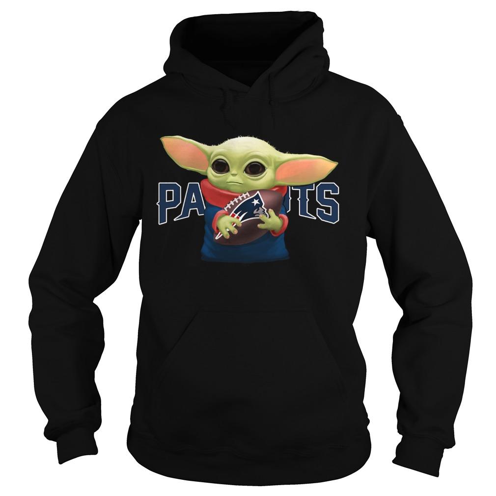 Baby Yoda Hug New England Patriots  Hoodie
