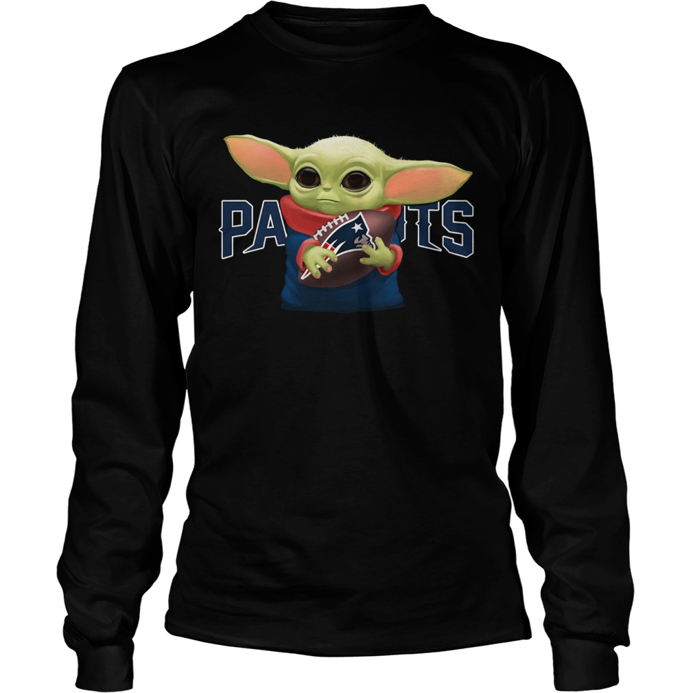 Baby Yoda Hug New England Patriots  LongSleeve