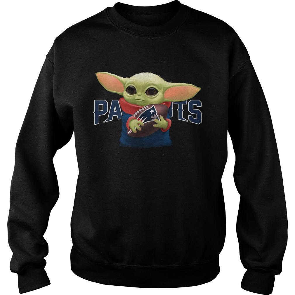 Baby Yoda Hug New England Patriots  Sweatshirt