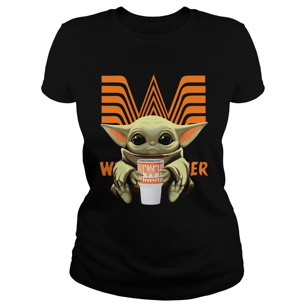 Baby Yoda Hug Whataburger  Classic Ladies