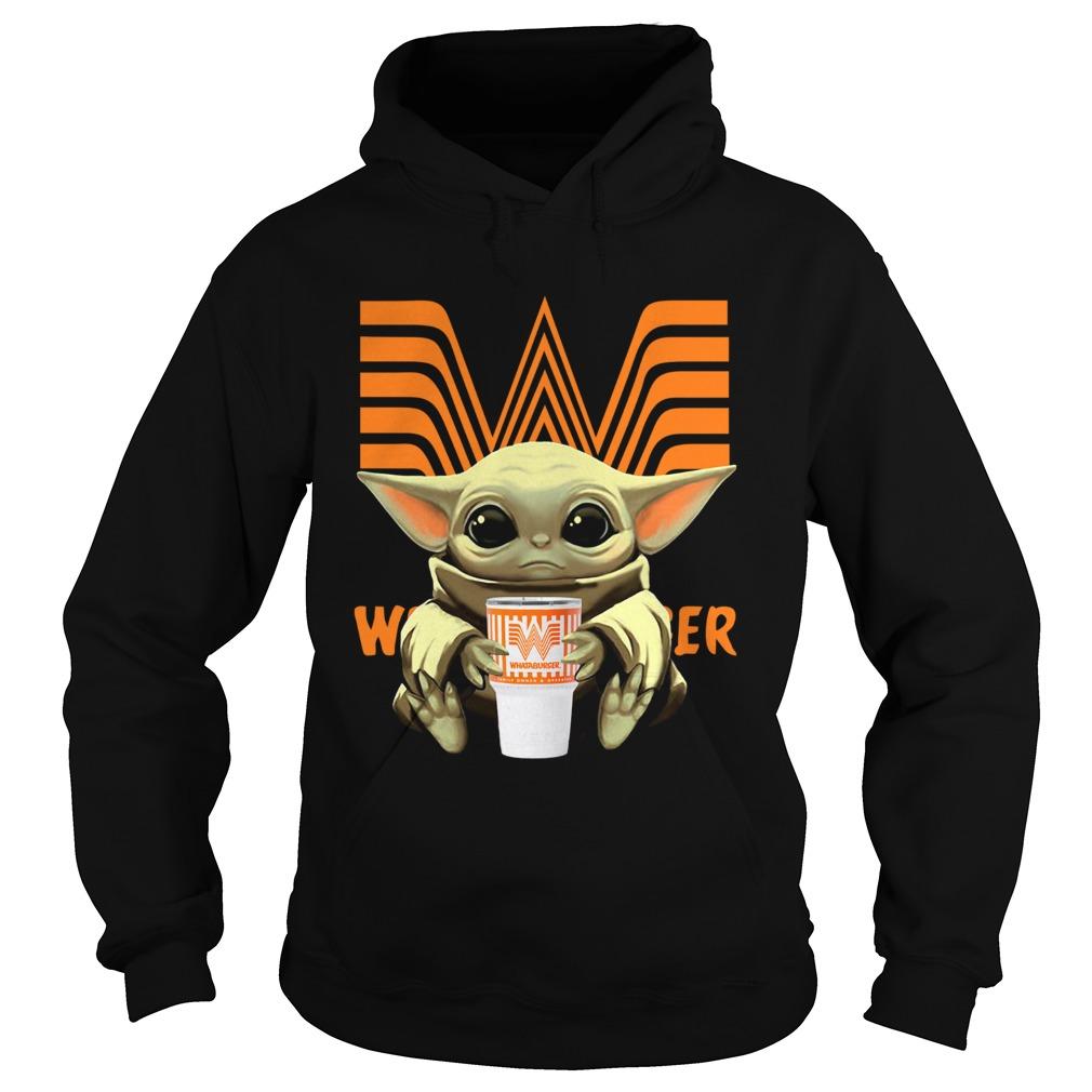 Baby Yoda Hug Whataburger  Hoodie