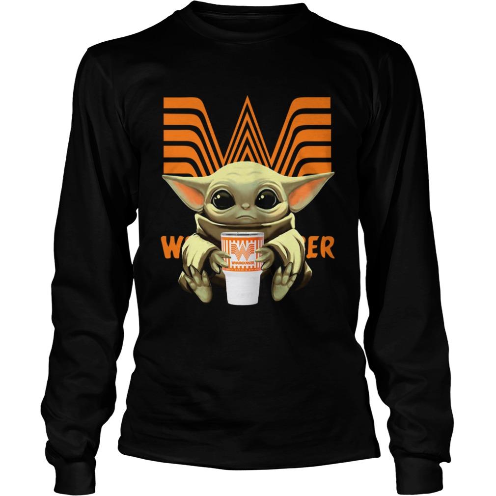 Baby Yoda Hug Whataburger  LongSleeve