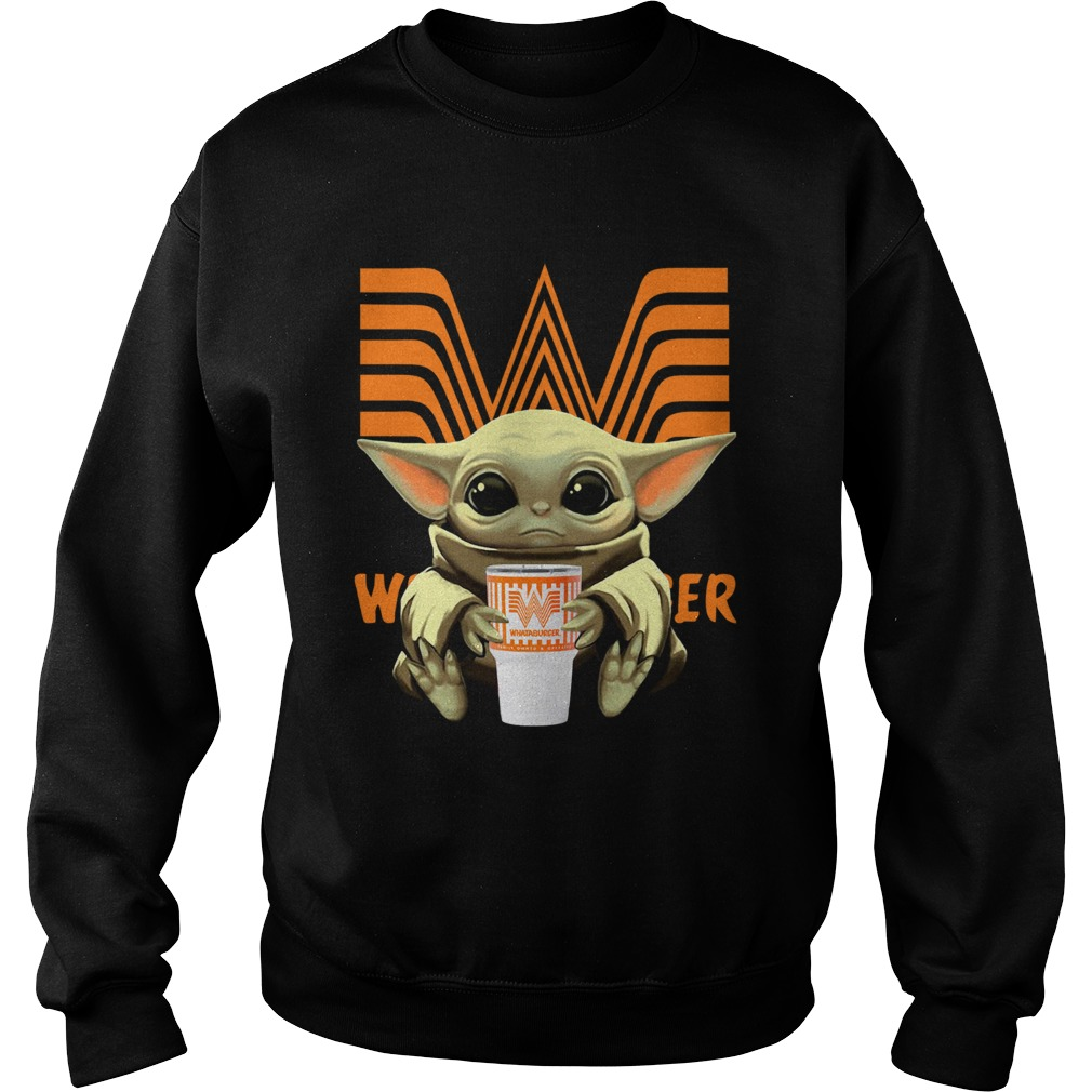 Baby Yoda Hug Whataburger  Sweatshirt