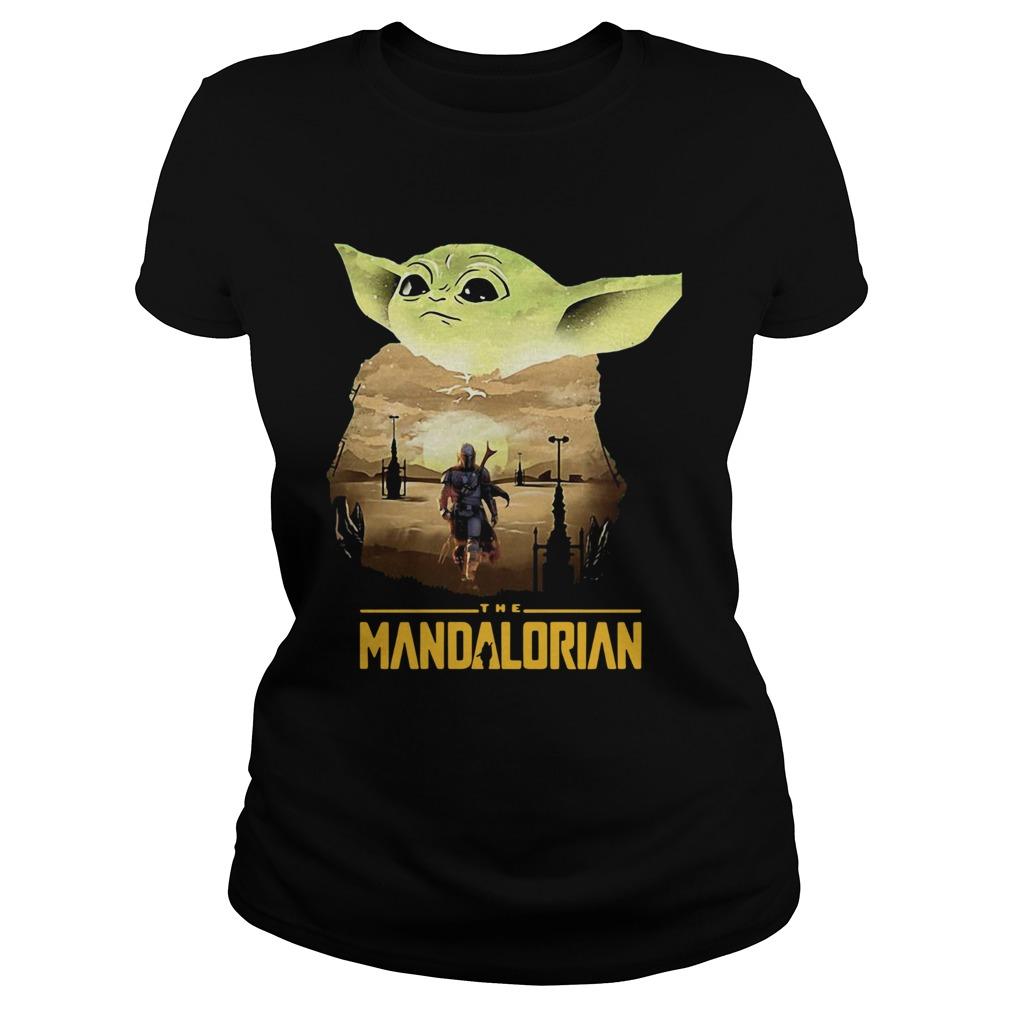 Baby Yoda Sunset Dandalorian  Classic Ladies