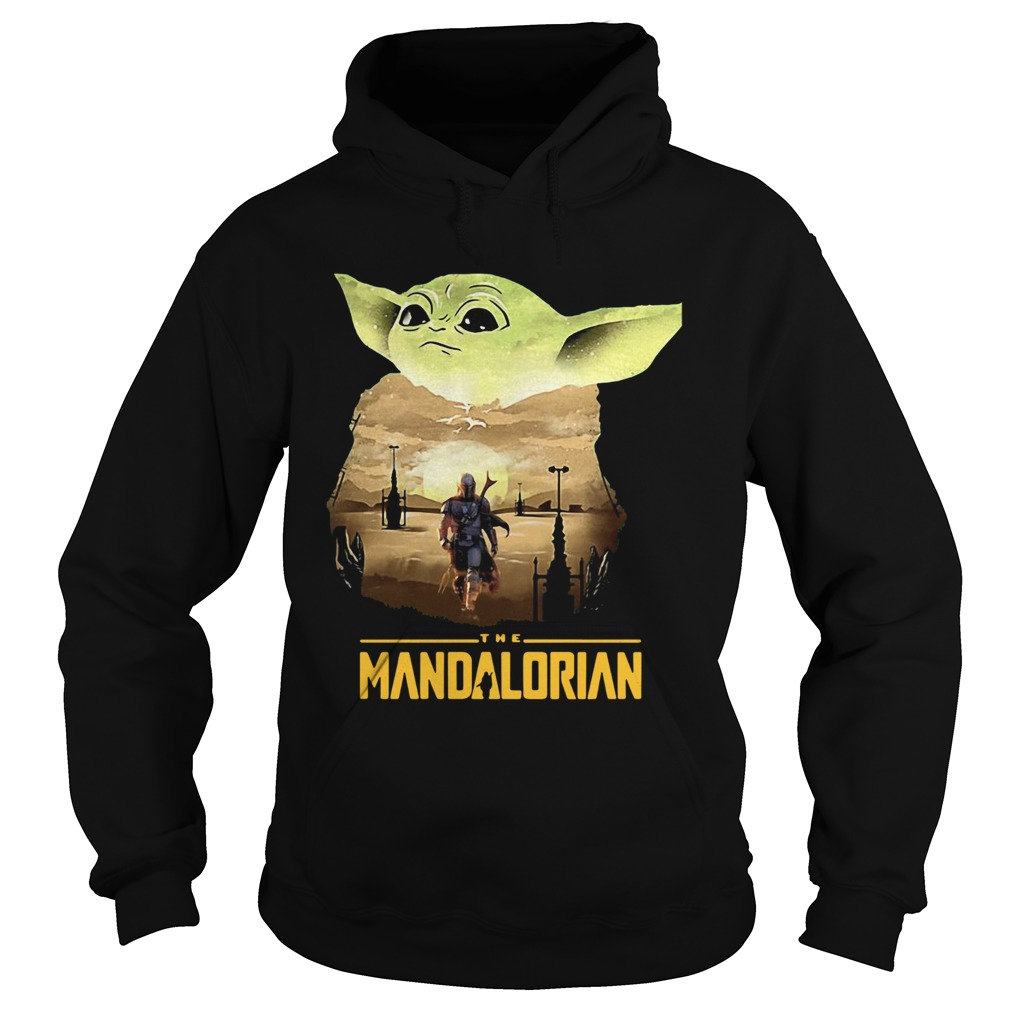 Baby Yoda Sunset Dandalorian  Hoodie