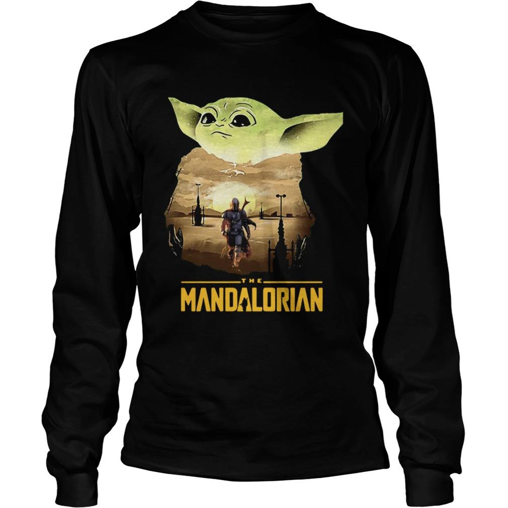 Baby Yoda Sunset Dandalorian  LongSleeve