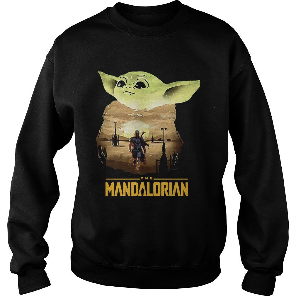 Baby Yoda Sunset Dandalorian  Sweatshirt