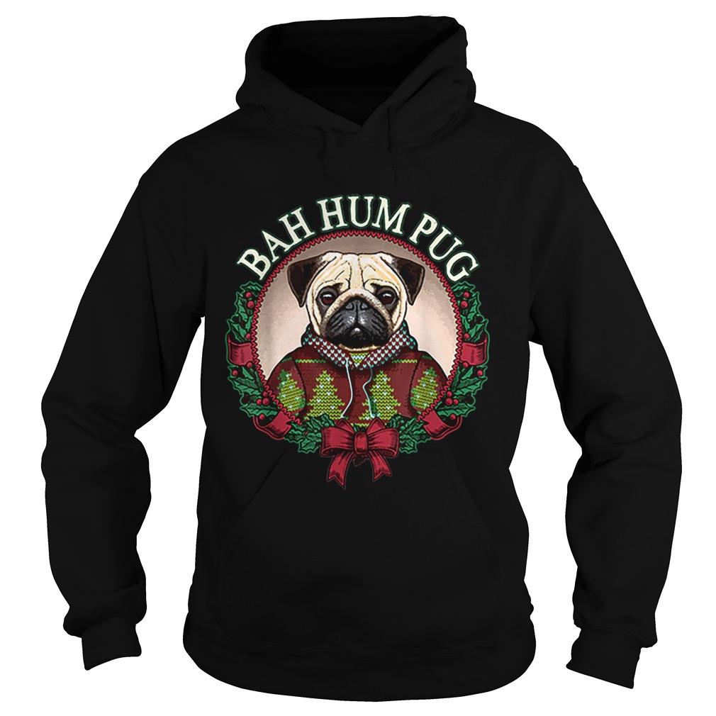 Bah Hum Pug Funny Christmas Pun for Pug Lovers  Hoodie
