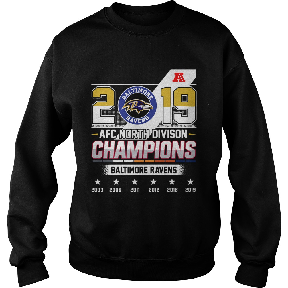 Baltimore Ravens Afc North Division Champions 2019  Sweatshirt