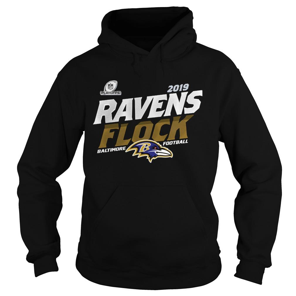 Baltimore Ravens Football Flock 2019 NFL Playoffs  Hoodie